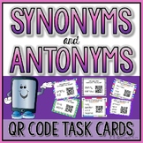 Synonym and Antonym QR Code Self Checking Task Cards