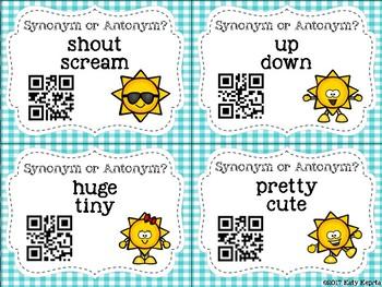 Synonym and Antonym QR Scoot