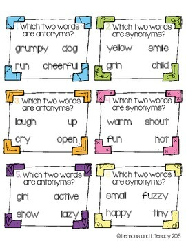 Synonym and Antonym SCOOT game