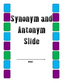 Synonym and Antonym Slide: A leveled file folder game