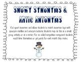 Synonym and Antonym Snowman Matching