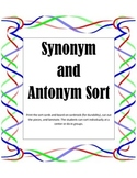 Synonym and Antonym Sort