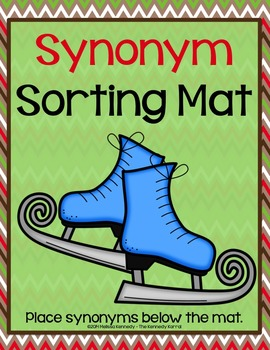 Winter Antonym and Synonym {Anchor Charts, Mats, Cards, & MORE!}