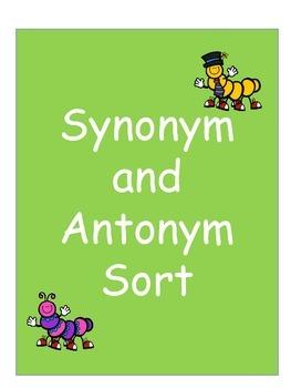 Synonym and Antonym Sort