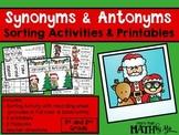 Synonyms & Antonyms Sorting Activities & Printables {Christmas}