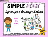 Synonym and Antonym Sorting Cards