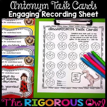 Synonym and Antonym Task Card Activity Bundle