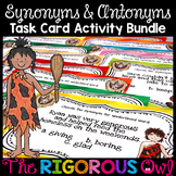 Synonym and Antonym Task Card Activity Bundle