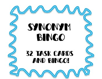 Synonym and Antonym Task Cards and Bingo Bundle Pack!
