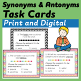 Synonym and Antonym Task Cards using Context Clues