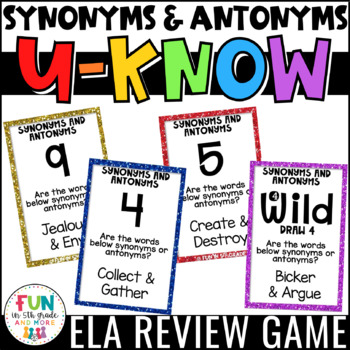 Synonyms And Antonyms Test Teaching Resources Teachers Pay Teachers