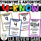 Synonyms and Antonyms Game for Literacy Centers: U-Know