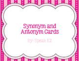 Synonym and Antonym Vocabulary Cards