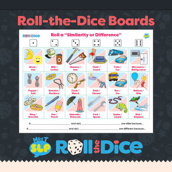 Similarities/Differences Word Pairs: Roll-the-Dice Games