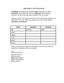 Synonym and Antonyms