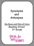 Synonym and Antonyms My Rows and Piles of Coins with Vocab