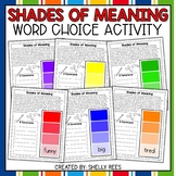 Synonym and Word Choice Activity - Paint Chip Packet