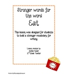 """Synonym and writing lesson for stronger options for the word """"eat"""""""