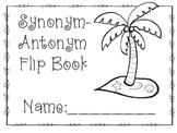 Synonym/Antonym Flip Book