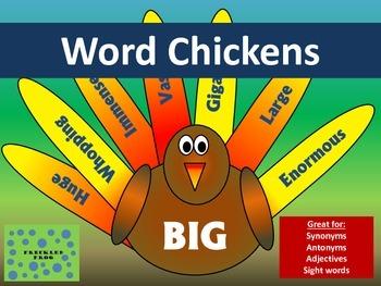 Synonym/Antonym Word Chickens