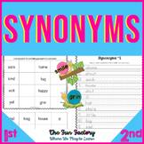Synonym Activities Kindergarten and 1st Grade Center Activities