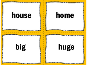 Synonyms Matching Game | Synonyms Activity