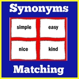 Synonyms | 1st 2nd 3rd 4th 5th Grade | Matching Game Activity