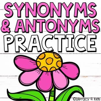 Synonym And Antonym Worksheets | Teachers Pay Teachers