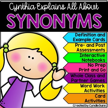 Synonyms: Cynthia Explains All About Synonyms