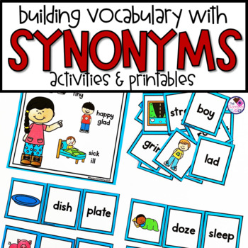 Synonyms For Vocabulary Development Activities By The Chocolate Teacher This page is a the largest collection of similar as well as the opposite meaning of words with their usages. teachers pay teachers