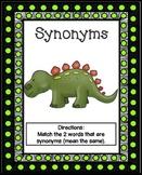 Synonym Activity | Synonym Worksheet | Synonym Puzzles