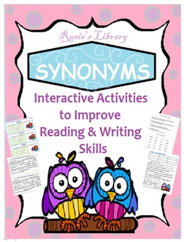 Synonyms & Adjectives :  2 Lessons to Enrich Writing