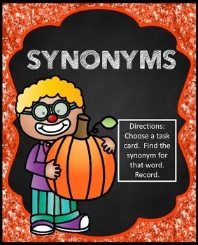 Halloween Synonyms Literacy Center