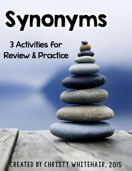 Synonyms: Activities, Game, and Posters for Practice & Review