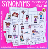 Synonyms - Memory Game or Flip book