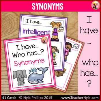 Synonyms - 'I Have, Who Has' Game