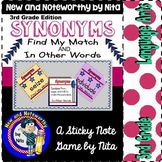 Synonyms - 3rd Grade Edition ~ Sticky Note Games