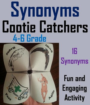 Synonyms Activity Game Foldable/ Vocabulary Practice for 4th, 5th, 6th Grade