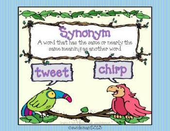 Synonyms- A Spring Center Matchup