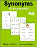 Synonyms (ASL Fingerspelling) - Fall