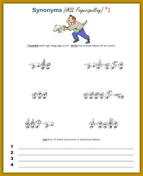 Synonyms (ASL Fingerspelling) - Summer