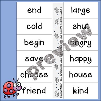 Synonyms...Activities for Independence