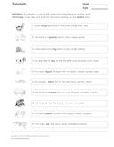 Synonyms - Worksheet