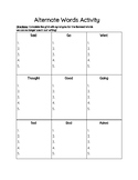 Synonyms- Alternate Words Activity