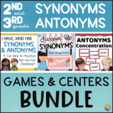 Synonyms and Antonyms Activities, Games, and Centers BUNDLE