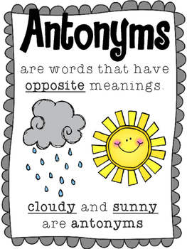 Synonyms & Antonyms Activities