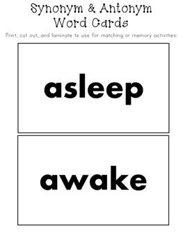 Synonyms & Antonyms Activities