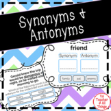 Synonyms & Antonyms Boom Cards Distance Learning SOL 3.4b