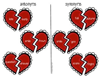 Synonyms & Antonyms Broken Heart Mix-Up