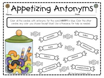 Synonyms & Antonyms: Color-Coded Candy